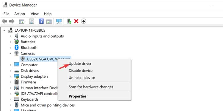 Device Manager Update Driver