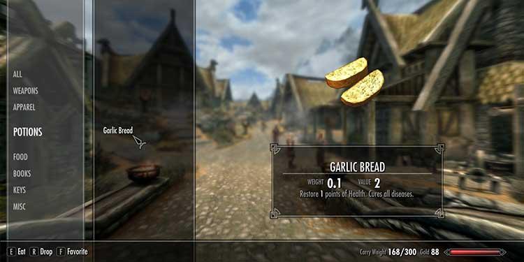 Eating Garlic Bread