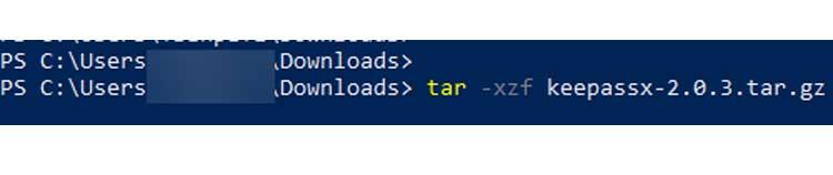 Extract Tar in Windows