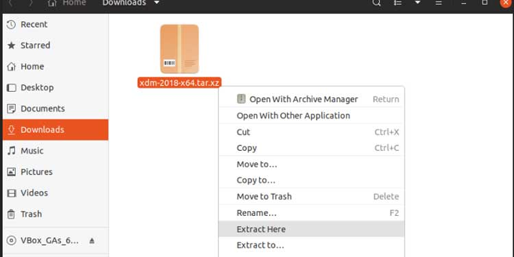 Extracting tar.gz using Archieve Manager