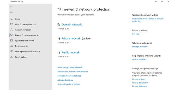 Firewall Notification