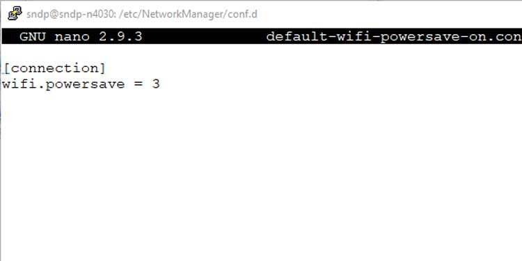 Linux power save config file