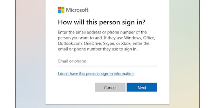 Microsoft New Account Login