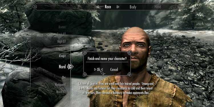 SKYRIM-customization-menu How to Change Skyrim Appearance and Name