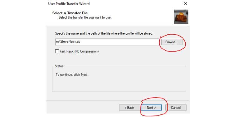 transfer user profile windows