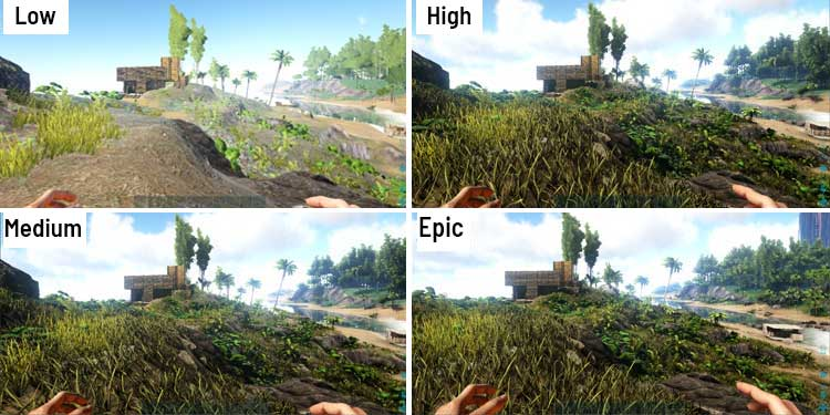 Settings and graphics comparison