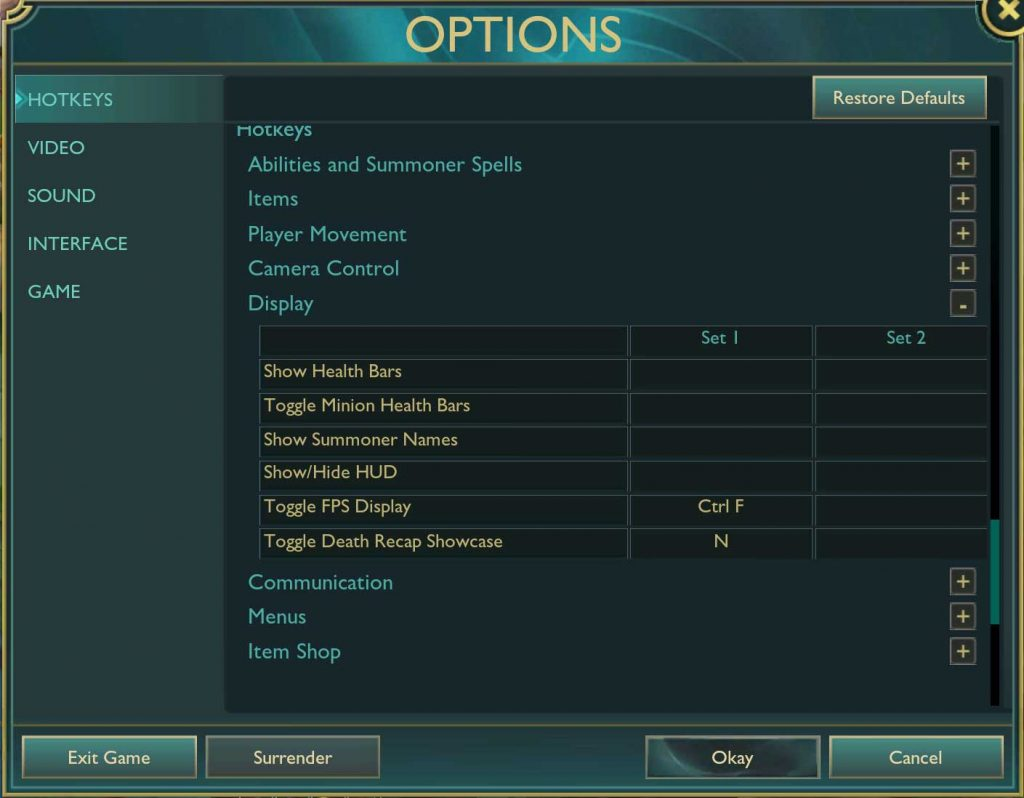 Show ping in league of legends