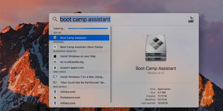 how to install bootcamp on mac