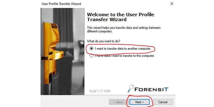 User Profile Transfer Wizard