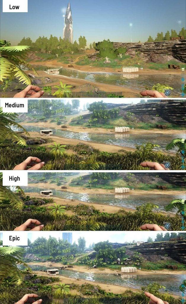 View-Distance comparison in ark