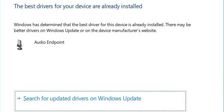 Windows 11 Search for updated drivers on Windows Update