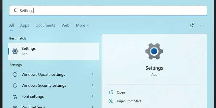 Windows 11 Settings