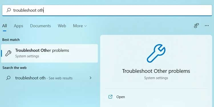 Windows 11 Troubleshoot Other Problems