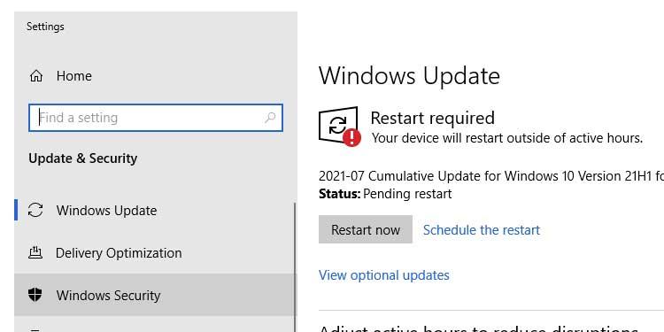 Windows Restart Now
