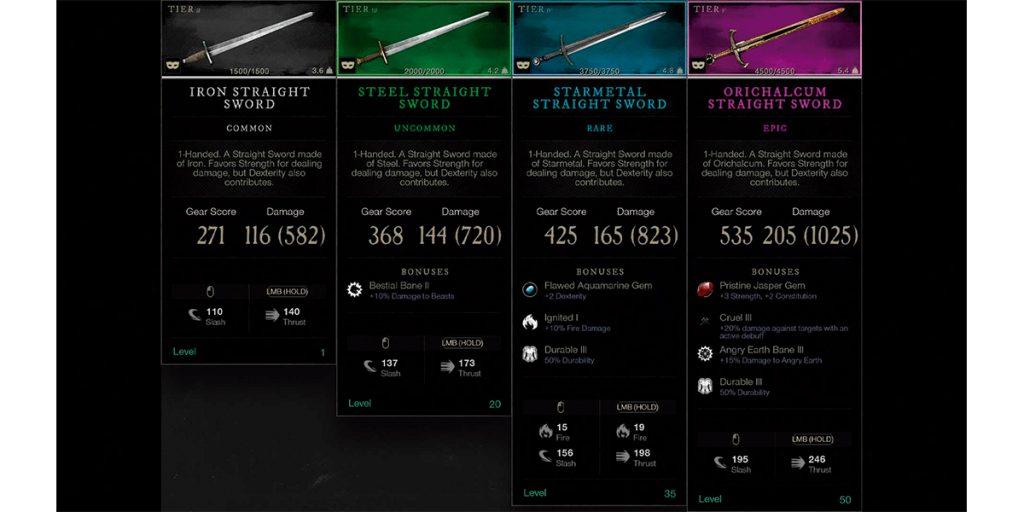 item rarity
