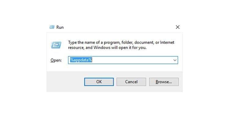 navigate appdata folder
