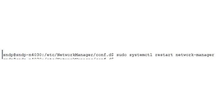 restart network manager using systemctl