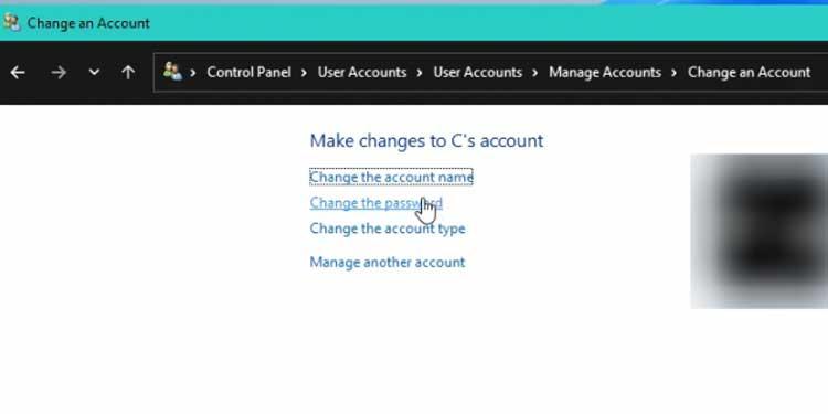 Change the Password