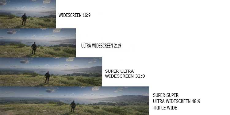 Comparison Ultrawide Screen Aspect Ratio