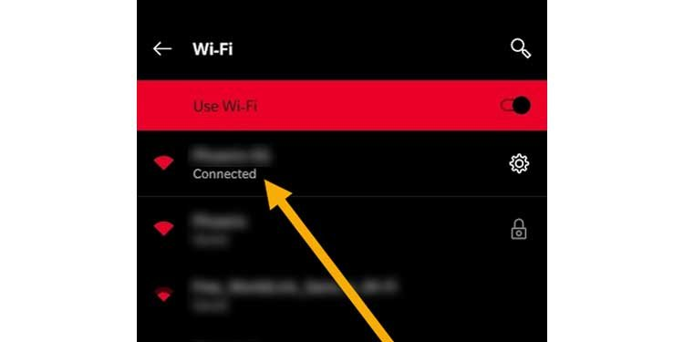 Connected wifi android 10