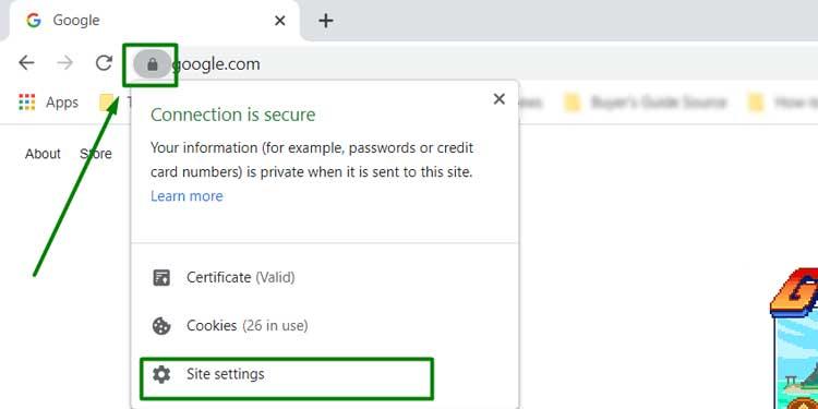 Google Chrome PoP Up Blocker