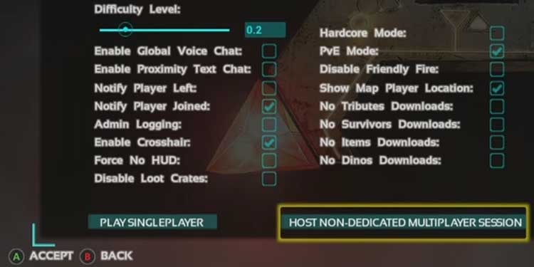 Host Non Dedicated Multiplayer Session