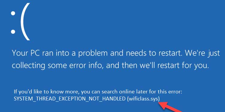 Identifying the sys file bsod error