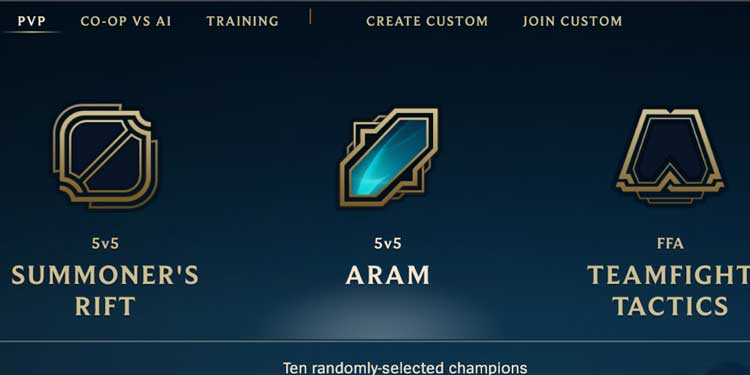 Play Some ARAM Games in LOL