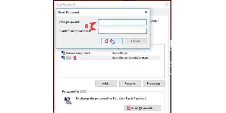 Reset Password Using Bootable Drive