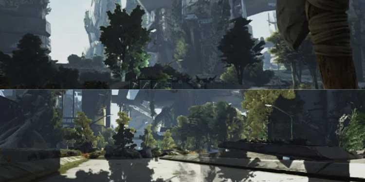 Split Screen Shadow Glitch