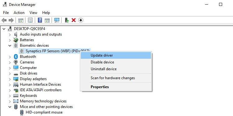 Update drivers in Windows