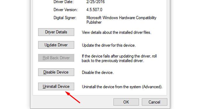 Windows Uninstall Device Drivers