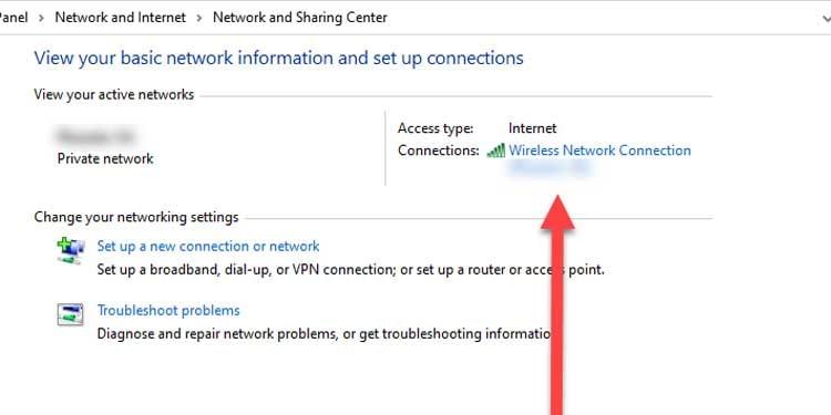 Windows Wireless Network Connection Details