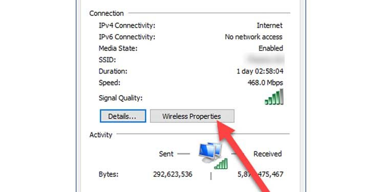 Windows Wireless Properties