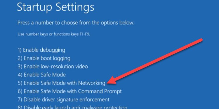 Windows boot into Safe Mode with Networking
