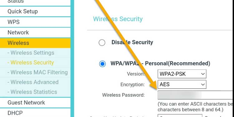 Wireless Security Configuration