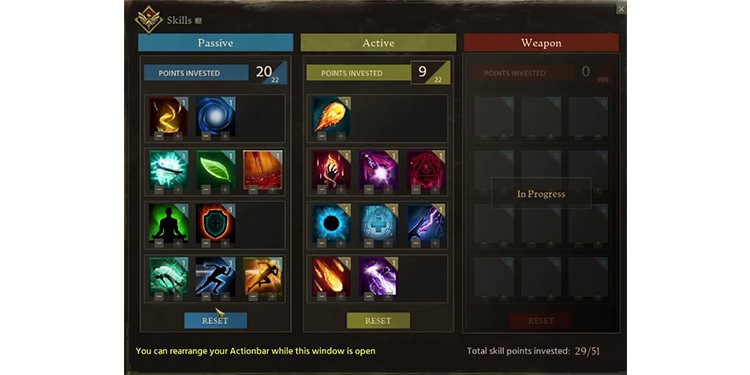 Ashes of creation skills