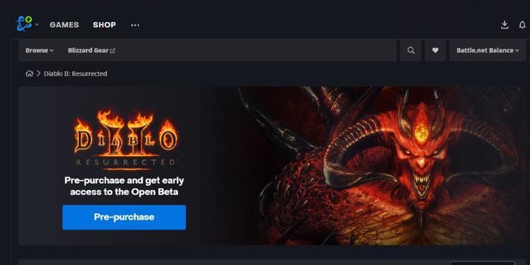 pre-purchase Diablo II Resurrected
