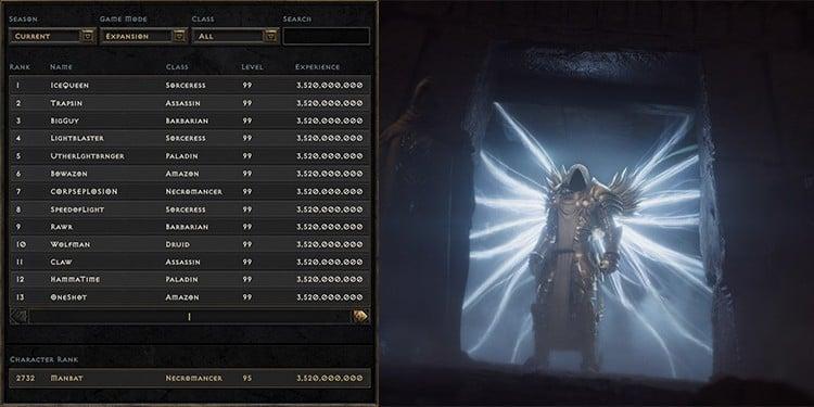 Diablo II: Resurrected ladder system