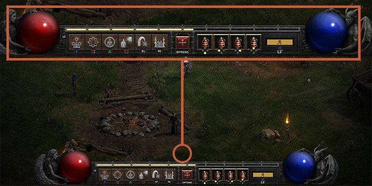 Diablo II: Resurrected controller