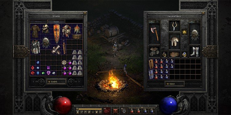 Diablo II Resurrected stash