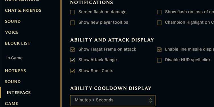 league of legends in game interface High auto-attack damage