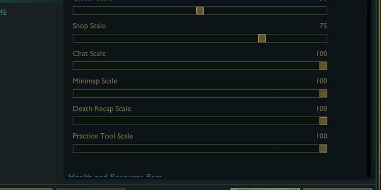 max mini map scale league of legends