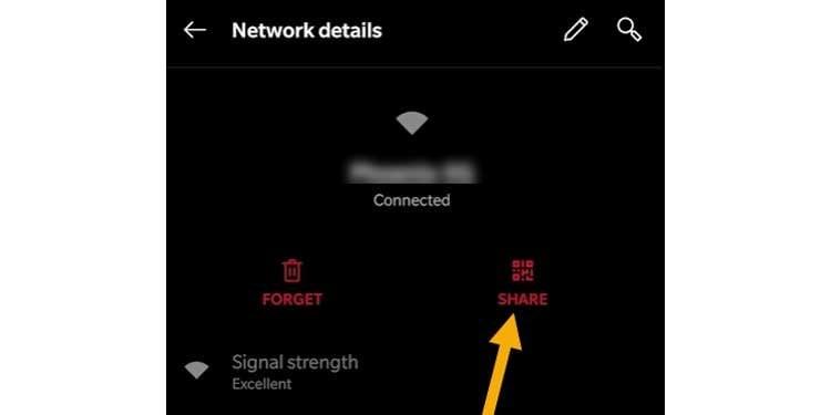 share network details