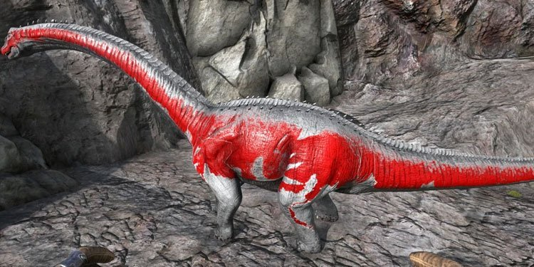 tame Brontosaurus in ark-survival
