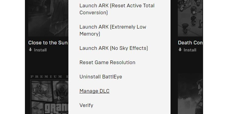 verify ark games on epic games store