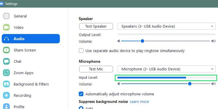 zoom-microphone-input-bar