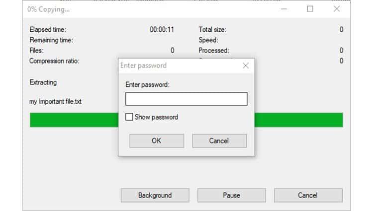 7zip-extract-password