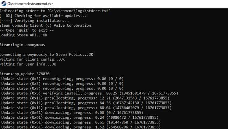 ARK Dedicated Server Installation