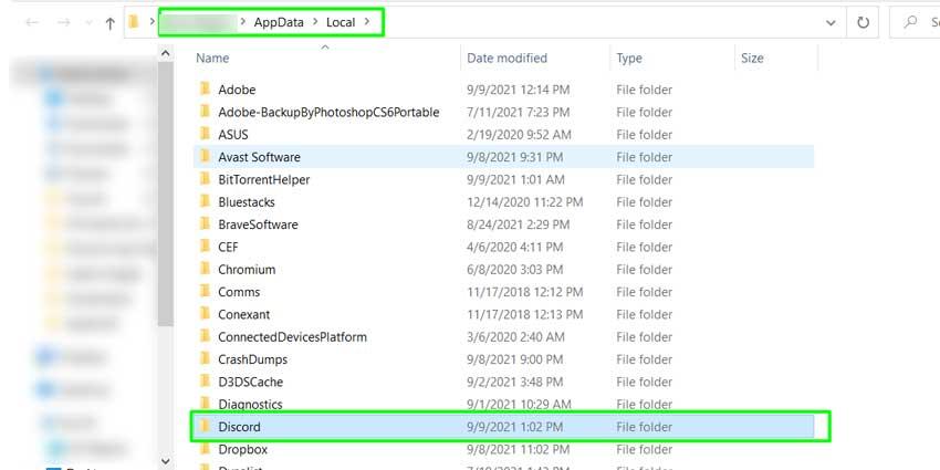 App Data Local Folder